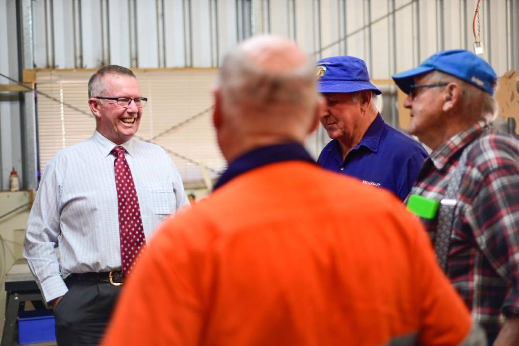 SUPPORT: Men's Sheds across the Parkes electorate are being encouraged to apply for funding as part of the newest round of the National Shed Development program. Photo: CONTRIBUTED