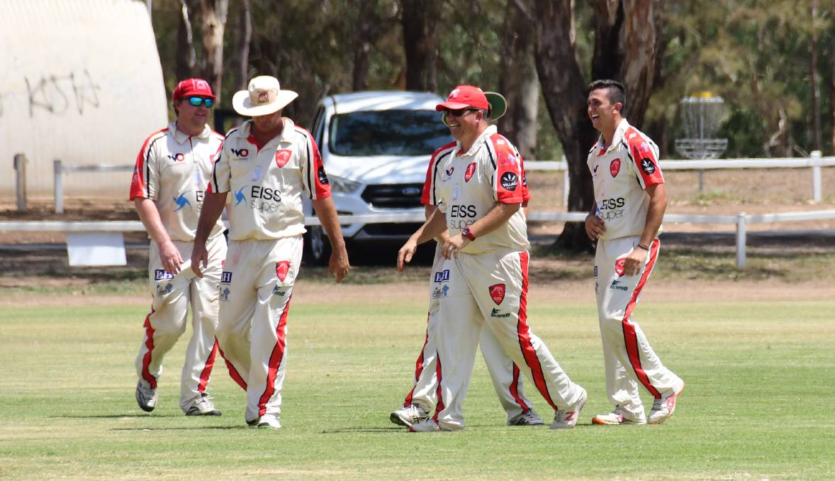 GOOD TIME: RSL-Colts cricketers last season at the Lady Cutler grounds, which also host football matches in the winter months. Photo: AMY McINTYRE