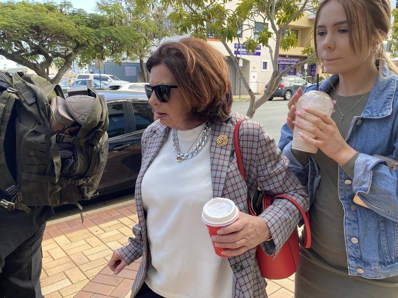 Kim Dorsett is in court with Ebony Turner (R) who survived the Dreamworld tragedy.